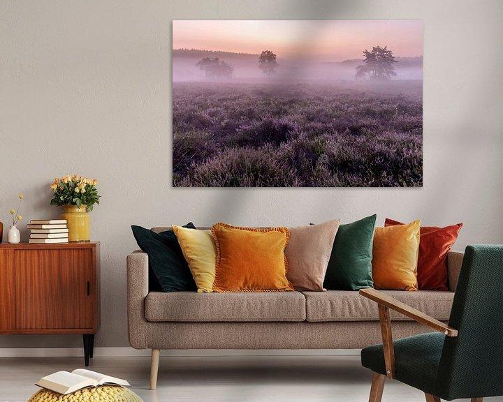 Impression: Juste avant le lever du soleil sur la bruyère des poètes du Limbourg belge, Belgique sur Fotografie Krist / Top Foto Vlaanderen