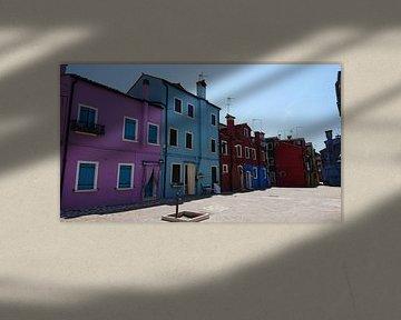 maisons colorées sur Ard Edsjin