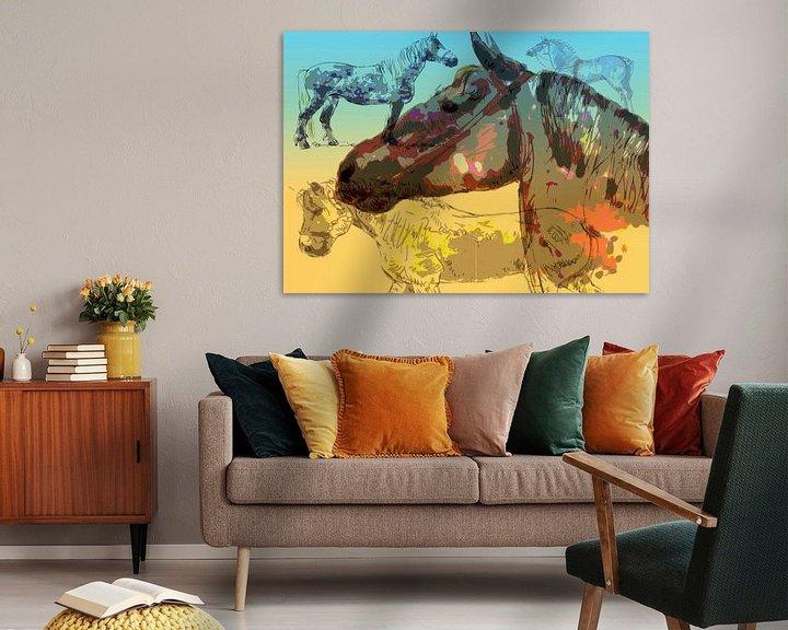 Sfeerimpressie: werkpaarden van Wilfried van Dokkumburg