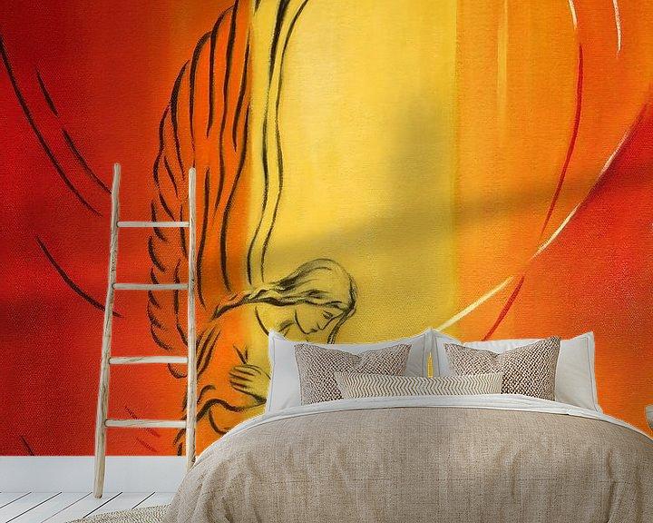 Sfeerimpressie behang: Engel van nederigheid - Angel Art van Marita Zacharias