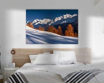 Alpen Zwitserland winter van Frank Peters