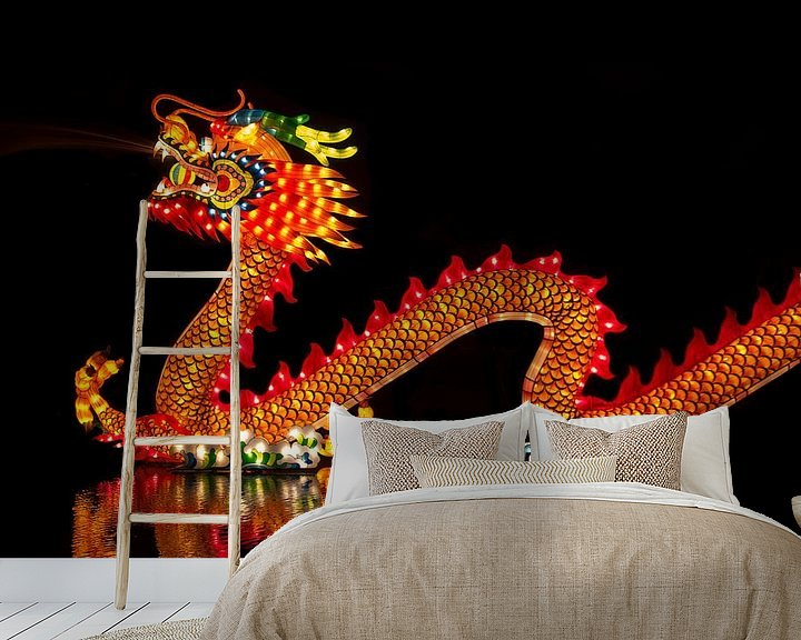 Sfeerimpressie behang: Chinese Draak van Wouter Kok