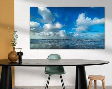 Hollandse wolken aan de Noordzee