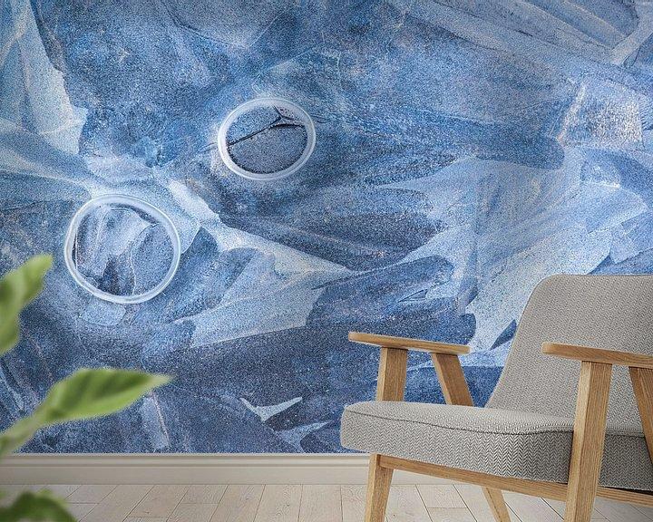 Sfeerimpressie behang: IJs abstract van Luuk Belgers