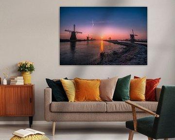 Sonnenaufgang Kinderdijk 2 von Henk Smit
