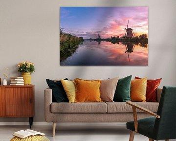 Zonsopkomst Kinderdijk 11 van Henk Smit