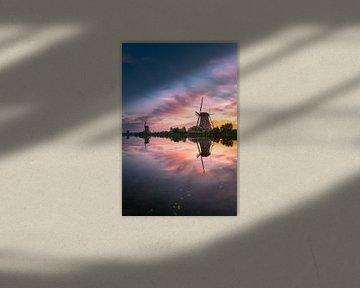 Zonsopkomst Kinderdijk 13 van Henk Smit