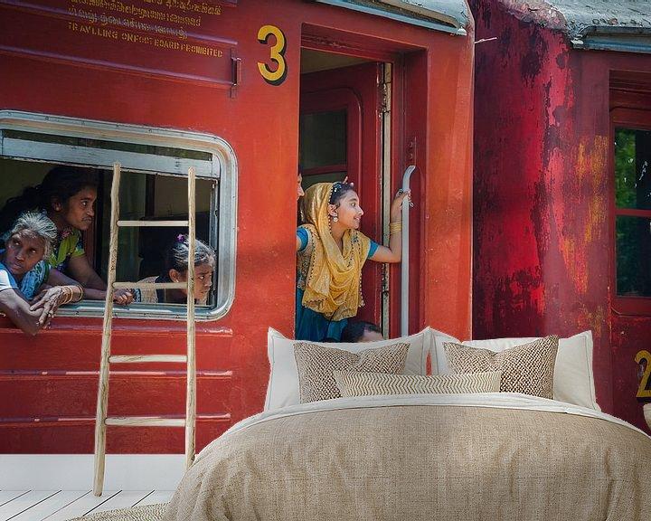 Beispiel fototapete: Sri Lanka Zugfahrt von Reisverslaafd