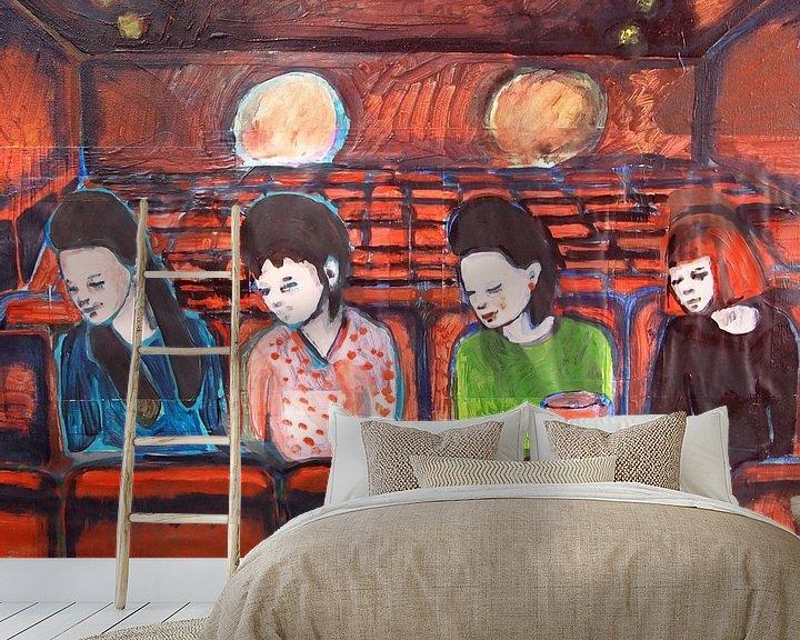 Sfeerimpressie behang: Wat bent u een saaie film van Sandrine Lambert