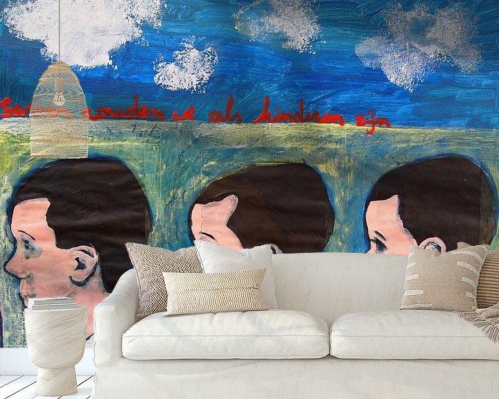 Sfeerimpressie behang: Samen zouden we als kinderen zijn van Sandrine Lambert