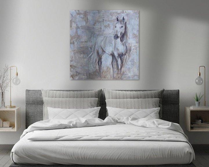 Impression: Cheval à peindre, abstrait sur Mieke Daenen