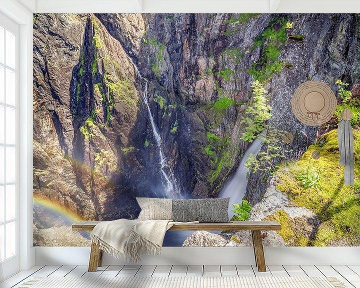 Sfeerimpressie behang: De watervallen van Robert Stienstra
