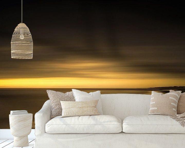 Sfeerimpressie behang: Een mooie zonsondergang van Klaas Fidom