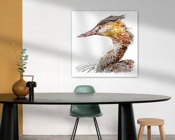 Porträt eines Tauchers (Aquarell) von Art by Jeronimo