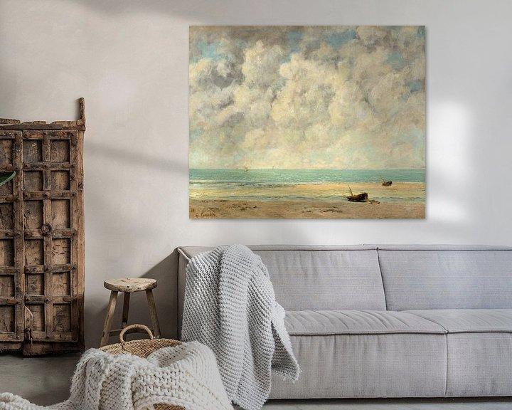 Beispiel: Das ruhige Meer von Gustave Courbet