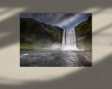 Skogafoss waterval van Marcel van Balkom