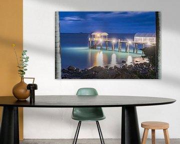 Pier in Airlie beach, Qld Australië van Dave Verstappen
