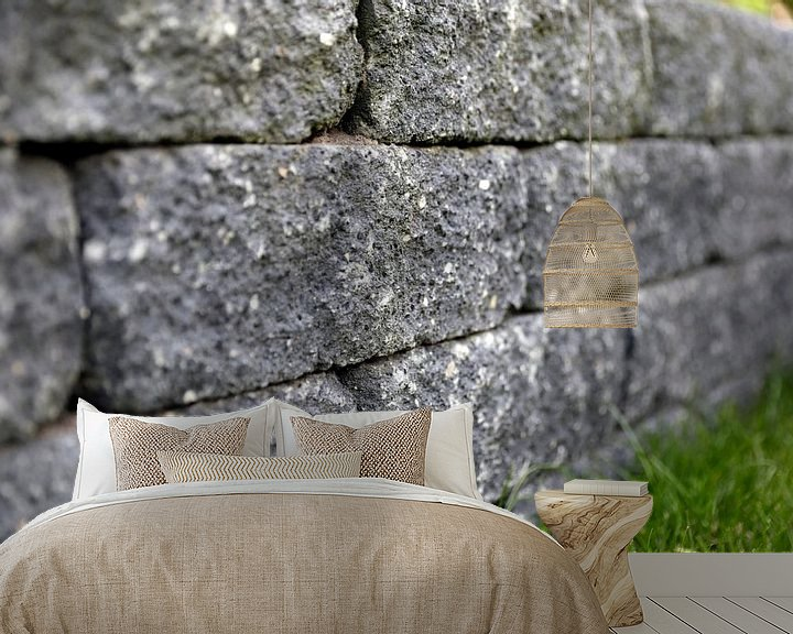 Beispiel fototapete: Steinmauer von Sander de Jong