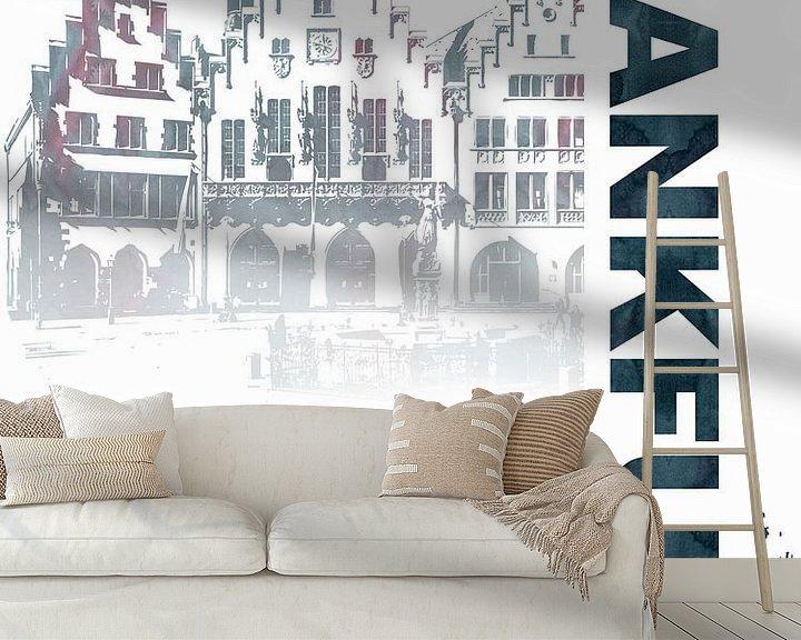 Sfeerimpressie behang: Frankfurt van Printed Artings