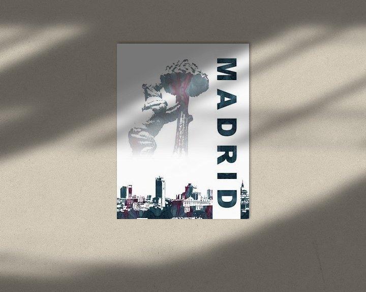 Sfeerimpressie: Madrid van Printed Artings