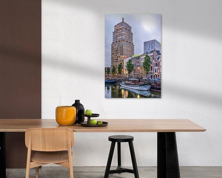 Sfeerimpressie: Wijnhaven in de schemering van Frans Blok