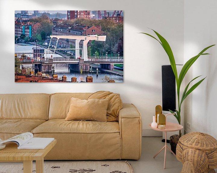 Sfeerimpressie: Rotterdam, Mathenesserbrug van Frans Blok