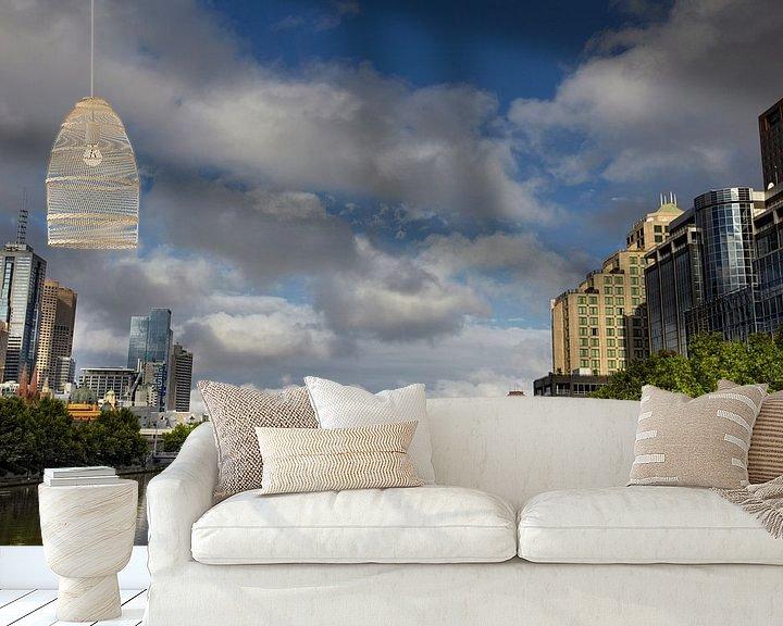 Sfeerimpressie behang: De stad Melbourne is de meest leefbare stad ter wereld. In de staat Victoria in Australië van Tjeerd Kruse