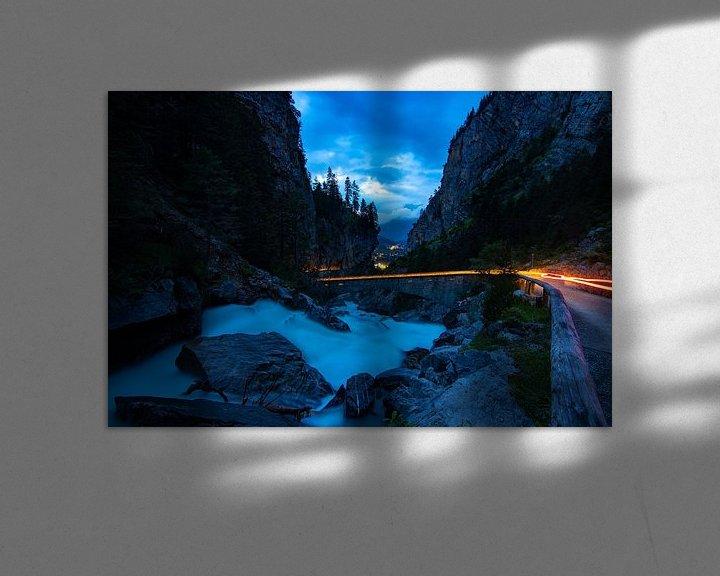 Sfeerimpressie: Kander waterval bij nacht van Mark Lenoire