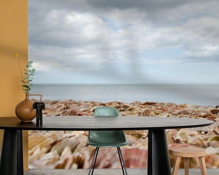 Beispiel fototapete: Strand voller Muscheln von Mark Bolijn
