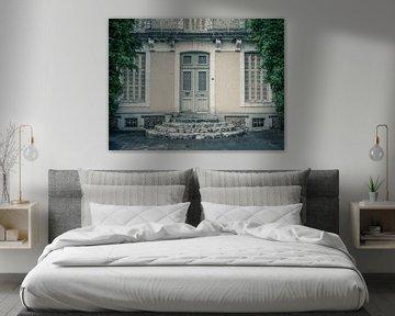 Oude Deur van een Landhuis met Klimplant van Art By Dominic