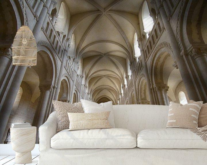 Beispiel fototapete: Abteikirche in Caen von Mark Bolijn