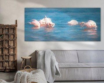 Flamingos fischen von Joris Pannemans - Loris Photography