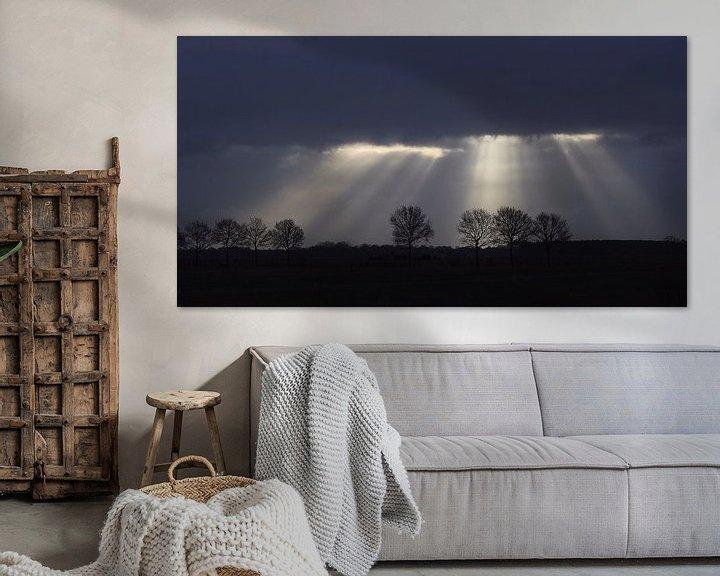 Sfeerimpressie: Zonne stralen door wolken van Hielke Roelevink