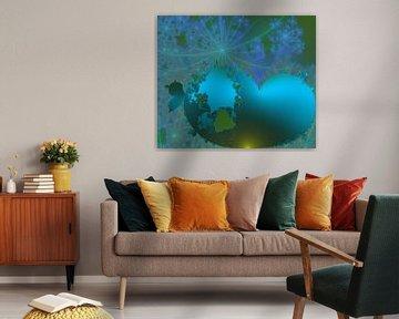 """Wereldkaart """"all over the world"""" van Bernardine de Laat"""
