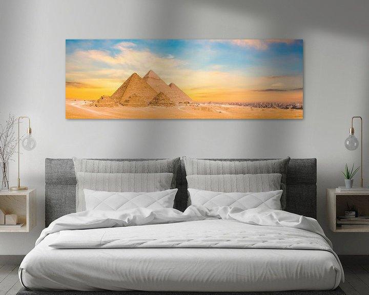 Sfeerimpressie: Piramides van Gizeh van Günter Albers