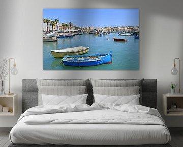 Malta - Boote im Hafen von Marsaxlokk von Robert Styppa