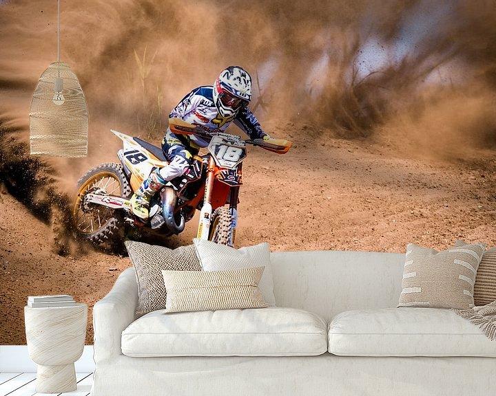 Sfeerimpressie behang: Motocross sports van Arie Bon
