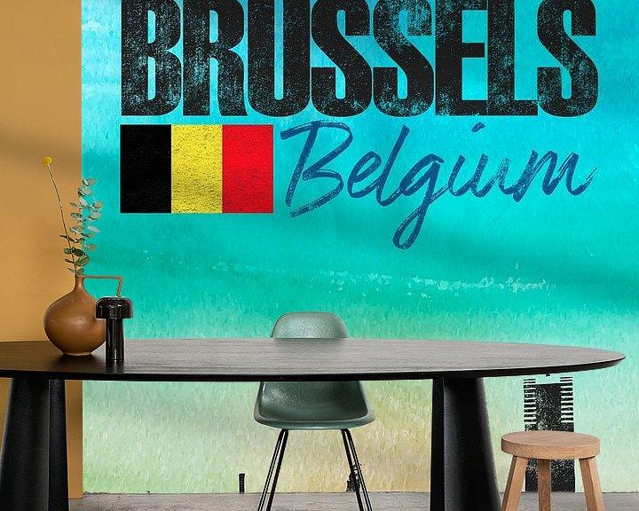 Sfeerimpressie behang: Brussel van Printed Artings
