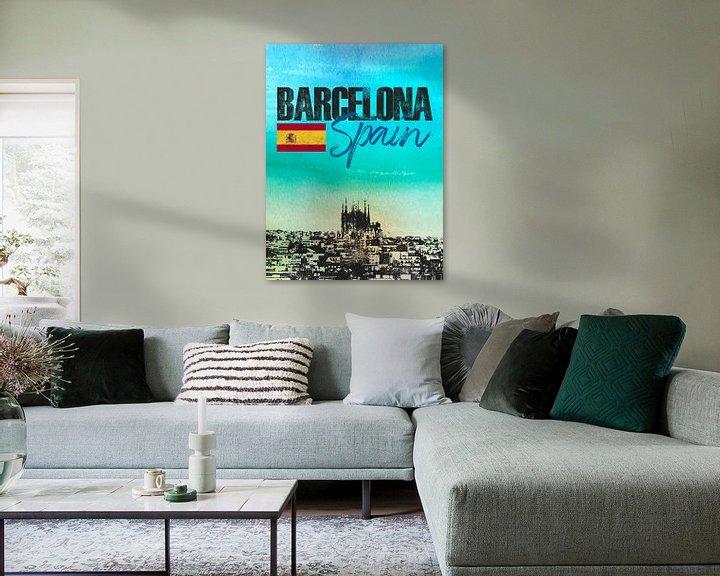 Sfeerimpressie: Barcelona van Printed Artings