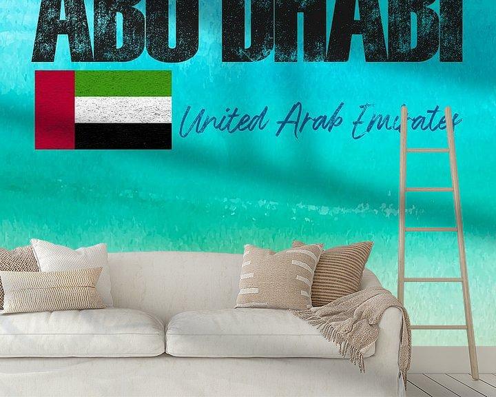 Sfeerimpressie behang: Abu Dhabi van Printed Artings
