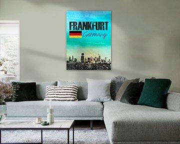 Frankfurt am Main Deutschland von Printed Artings