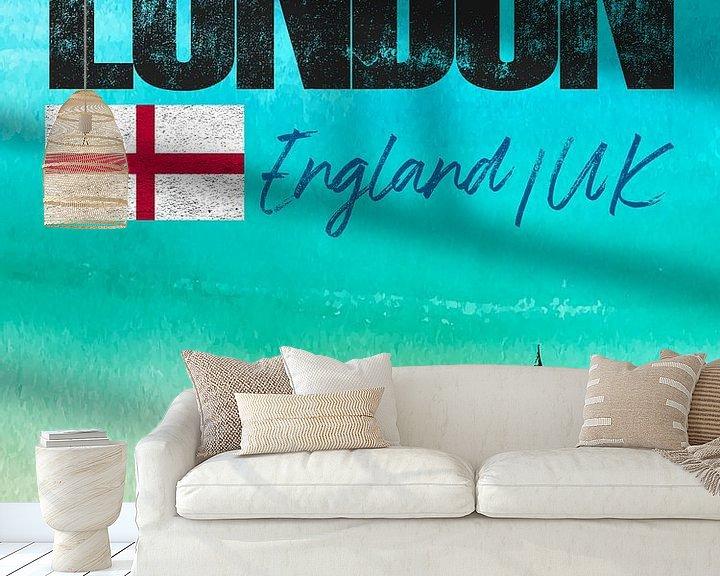 Sfeerimpressie behang: Londen Engeland van Printed Artings