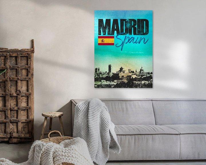 Sfeerimpressie: Madrid Spanje van Printed Artings