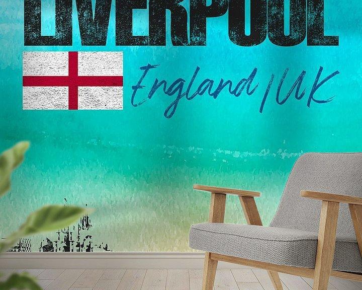 Sfeerimpressie behang: Liverpool Engeland van Printed Artings