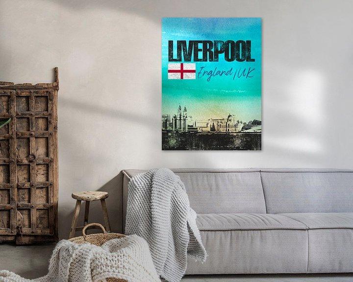 Sfeerimpressie: Liverpool Engeland van Printed Artings