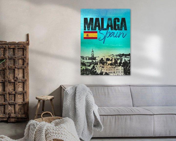 Sfeerimpressie: Malaga Spanje van Printed Artings