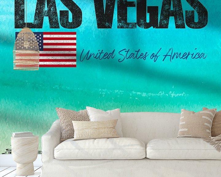 Sfeerimpressie behang: Las Vegas Amerika van Printed Artings