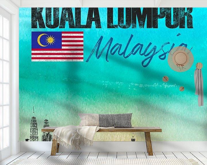 Sfeerimpressie behang: Kuala Lumpur Maleisië van Printed Artings