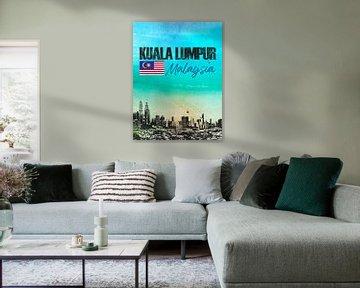 Kuala Lumpur Maleisië van Printed Artings