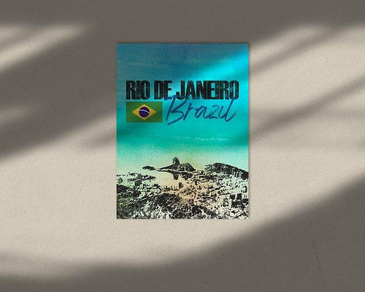 Sfeerimpressie: Rio de Janeiro Brazilië van Printed Artings